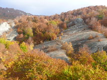 5 berg oktober Arkivbild
