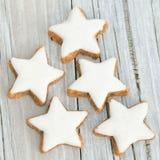 5 biscotti della cannella Fotografia Stock