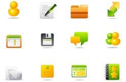 被设置的5 blogging的图标互联网philos 免版税库存照片