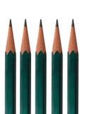 5 blyertspennor Fotografering för Bildbyråer