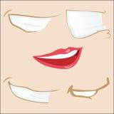 5 bocas dos desenhos animados. Imagem de Stock