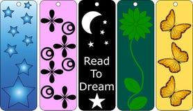 5 bookmarks kolorowy set Obraz Stock