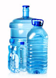 5 bottles of water stock images