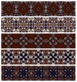 5_brown_n_blue_borders-1 Fotografie Stock