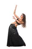 5 brunetki dancingowej dziewczyny seksowny oblicze Zdjęcia Stock