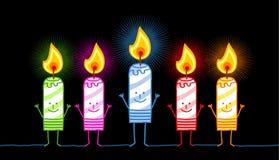 5 burning candles Stock Image