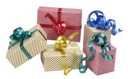 5 caixas de presente Imagens de Stock Royalty Free