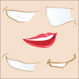 5 cartoon mouths. royalty free illustration