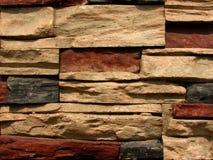 5 cegieł wzoru kamienna ściana Obrazy Stock