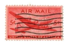 5 cents gammal portostämpel USA Royaltyfria Foton