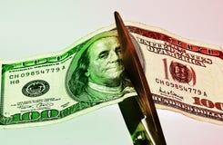 5 cięcia wydatków obraz stock
