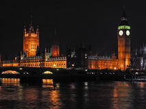 5 city london night scene Στοκ Εικόνες