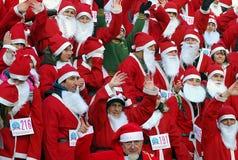 5 claus race santa Στοκ εικόνες με δικαίωμα ελεύθερης χρήσης
