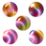 5 colorful spheres Stock Photos
