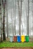 5 colori riciclano gli scomparti Fotografie Stock