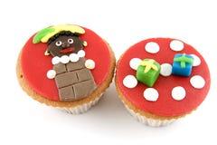 5 cupcakes Δεκέμβριος Στοκ φωτογραφία με δικαίωμα ελεύθερης χρήσης