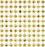 5 czarnych ikon zastawione Obraz Stock