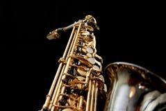 5 czarnych saksofonów serii Zdjęcia Stock