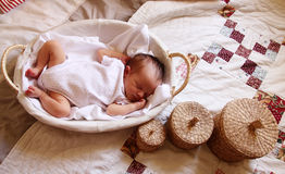 5 days old cute baby stock photos