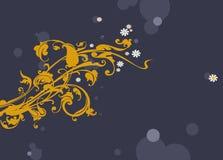 5 dekorativa blommor royaltyfri illustrationer