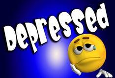 5 deprimidos ilustración del vector
