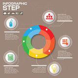 Концепция дела с 5 вариантами, частями, шагами или процессами смогите быть использовано для плана потока операций, diagram, прону Стоковая Фотография