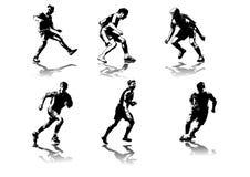 5 diagram fotboll Arkivfoton