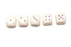 5 dice Royalty Free Stock Image