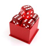 5 Dice in a Box Stock Photography