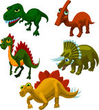 5 different dinosaurs Stock Photos