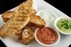 5 dips хлеба турецких Стоковые Изображения RF