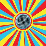 5 disko mic royaltyfri illustrationer