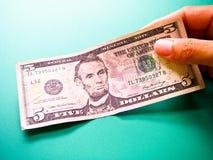 5 Dollar Bill Royalty Free Stock Photography