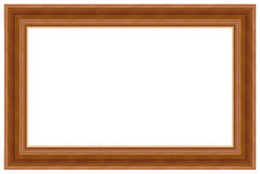 5 drewniany ramowy obrazek Obraz Stock