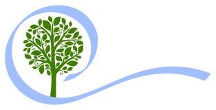 5 emblematów drzewa wektor Obrazy Royalty Free