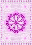 5.Embroidery a lace. An embroidery a lace, dark pink on a white background royalty free illustration