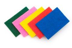 5 esponjas empilham acima Fotografia de Stock Royalty Free