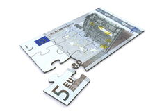 5 Euro Note Puzzle Royalty Free Stock Photo