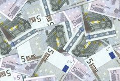5 Euro Notes Texture Royalty Free Stock Photo