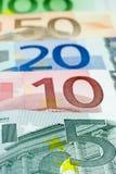 5 euroeuros line up Fotografering för Bildbyråer