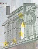 5 euros fragment Arkivbild