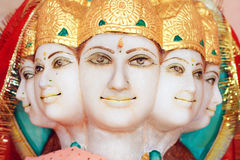 5 face hindu god. A statue of a hindu god with 5 faces Stock Photos