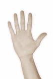 5 fem hand nummer Royaltyfria Bilder