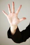 5 fingrar numrerar uppvisning Fotografering för Bildbyråer