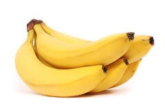 5 five bananas Royalty Free Stock Image