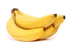 5 five bananas. White background studio Royalty Free Stock Image