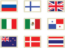 5 flags штемпеля Стоковая Фотография RF