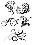 5 floral pattern Stock Images