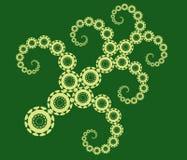 5 fractals Stock Illustrationer