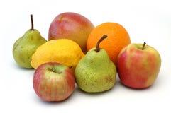 5 fruktserie Arkivfoto
